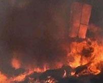 印度非法塑料工厂起火