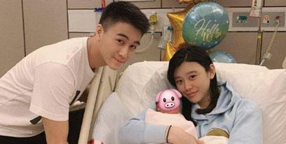 奚梦瑶与儿子近照曝光,怀二胎孕肚明显